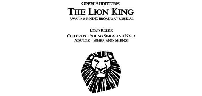 The Lion King Casting Call Auditions
